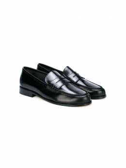 Prosperine Kids leather slip-on loafers D033SPAZZOLATONEROT