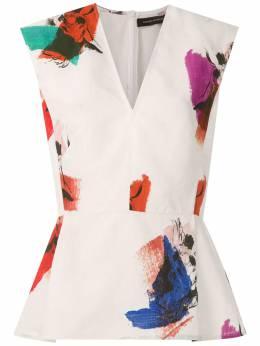 Andrea Marques блузка с абстрактным принтом BLUSADECOTEVPREGAS