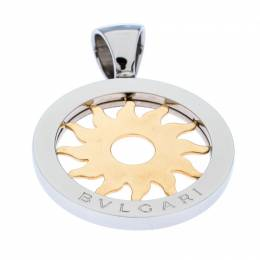 Bvlgari Tondo 18K Yellow Gold Stainless Steel Sun Pendant 303338