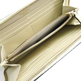 Valentino White Leather Rockstud Zip Around Wallet 241007
