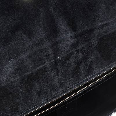 Gucci Black Microguccissima Patent Leather Broadway Clutch 235357 - 1