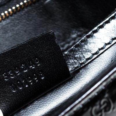 Gucci Black Microguccissima Patent Leather Broadway Clutch 235357 - 6