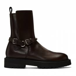 Bottega Veneta Brown Leather Buckled Boots 578286 VIFH0