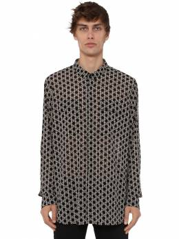 Over Print Monogram Light Cotton Shirt Balmain 71IS3N017-RUFJ0