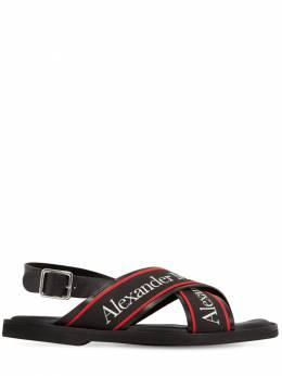 Кожаные Босоножки С Ремешками Alexander McQueen 71IA9U002-MTA4MQ2