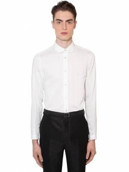 Рубашка Из Хлопка И Шелка 3d Saint Laurent 71I25Z078-OTYwMQ2