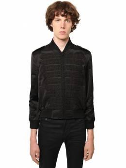 Пиджак Из Вискозы И Хлопка С Вышивкой Saint Laurent 71I25Z009-MTAwMA2