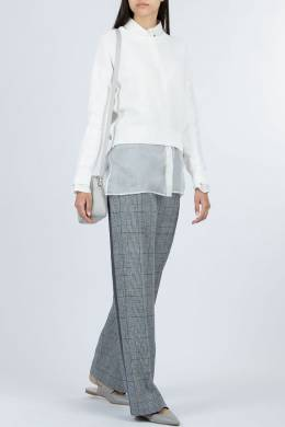 Белый хлопково-льняной свитер Fabiana Filippi 2658162634