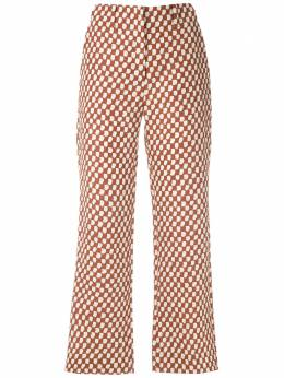 Andrea Marques брюки с принтом и заниженной талией CALCACINTURABAIXA
