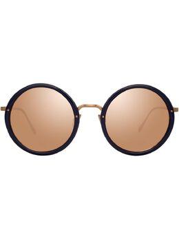 Linda Farrow солнцезащитные очки в круглой оправе LFL239C85SUN