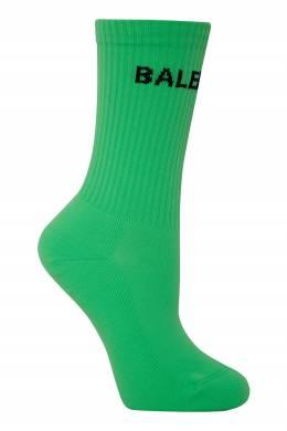 Зеленые носки с черным логотипом Balenciaga 397162324