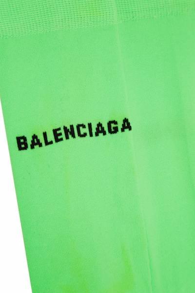 Удлиненные зеленые носки с черным логотипом Balenciaga 397162331 - 4