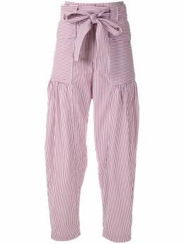 Andrea Bogosian брюки свободного кроя в полоску 003702