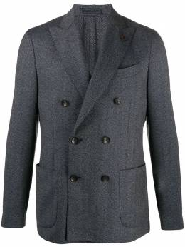 Lardini двубортный пиджак с узором в елочку IL660AEILC53505