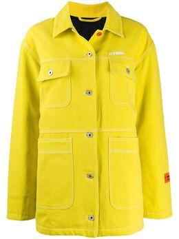 Heron Preston джинсовая куртка с вышитым логотипом HWYE002E198000031501