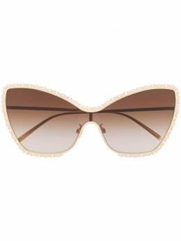 Dolce&Gabbana Eyewear солнцезащитные очки Devotion в оправе 'кошачий глаз' DG2240