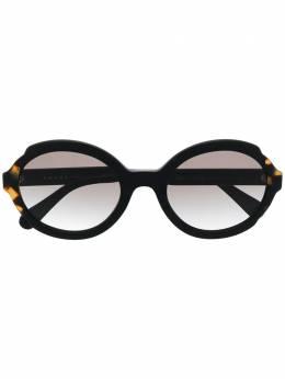 Prada Eyewear солнцезащитные очки в круглой массивной оправе PR17U