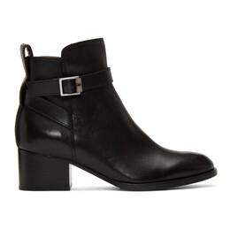 Rag&Bone Black Walker Buckle Boots WFF19FF0013A01-BLK