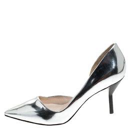 3.1 Philip Lim Silver Patent Leather Martini Pointed Toe Pumps Size 38 3.1 Phillip Lim 241648