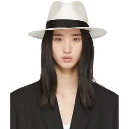 Rag&Bone White Straw Panama Hat W262181M2-WHT