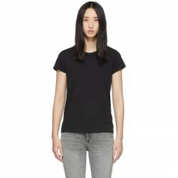 Rag&Bone Black The Tee T-Shirt W272C32CH-BLK
