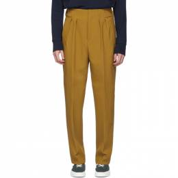Maison Kitsune Tan Pleated Trousers DU01104WM0003