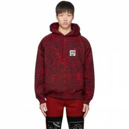 Etudes Red and Black Keith Haring Edition Odysseus Hoodie E15S-103-KH