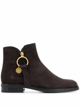 See By Chloe фактурные ботинки с логотипом SB33110A