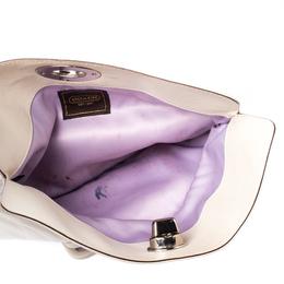 Coach Cream Leather Clutch 212558