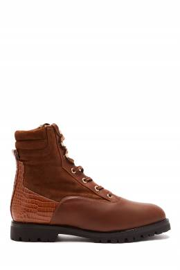 Высокие ботинки Runway Shearling Bootie Aquazzura 975163162