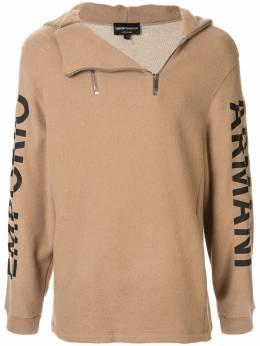 Emporio Armani худи на молнии с логотипом на рукаве 6G1M6R1JH1Z