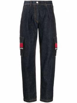 Alanui брюки карго с бахромой из бисера LWYA004E19055019W188