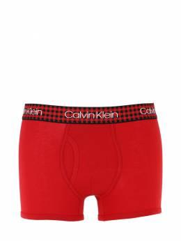 Check Logo Elastic Briefs Calvin Klein Underwear 70IVZX006-M1lR0