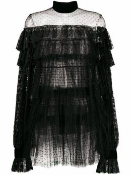 Wandering короткое кружевное платье с оборками WGW19407