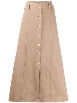 Nanushka расклешенная юбка макси Roja ROJA