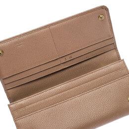 Prada Beige Saffiano Leather Continental Flap Wallet 240779