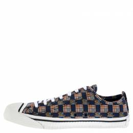 Burberry Multicolor Printed Fabric Kingly Low Top Sneakers Size 45.5 242873