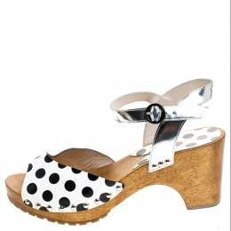 Sophia Webster Monochrome Polka Dot Leather Ava Ankle Strap Sandals Size 40 241101