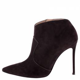 Gianvito Rossi Brown Suede Ankle Boots Size 37.5 242759