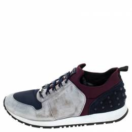 Tod's Multicolor Suede and Nylon Lace Sneakers Size 38 241098