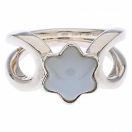 Montblanc Cabochon de Montblanc Grey Quartz Silver Ring Size 52 238504