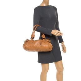 Chloe Tan Leather Medium Paddington Satchel Bag 237962