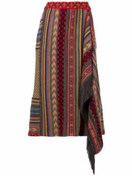 Etro асимметричная юбка с узором 137359237
