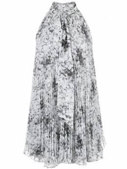 Adam Lippes плиссированная блузка с цветочным принтом R20123PB