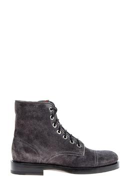 Темно-серые ботинки из замши Santoni 1165162207
