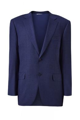 Синий костюм из шерстяной ткани Canali 1793162271