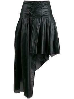 Romeo Gigli Pre-Owned присборенная юбка 1990-х годов асимметричного кроя RGLI250AF
