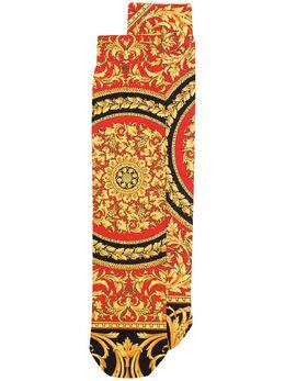Versace носки с принтом Barocco ICZ0003A233688