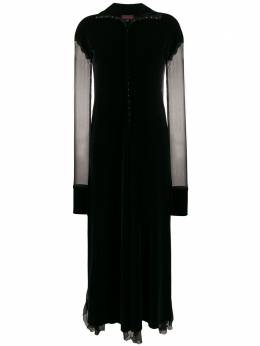 Romeo Gigli Pre-Owned платье 1990-х годов с прозрачными вставками RGLI280B
