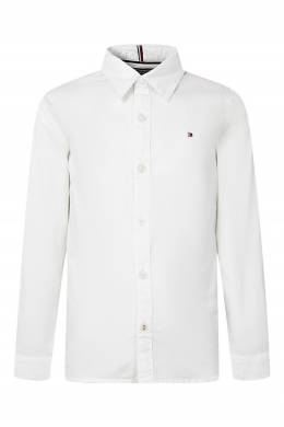 Приталенная белая рубашка на пуговицах Tommy Hilfiger Kids 2646163921